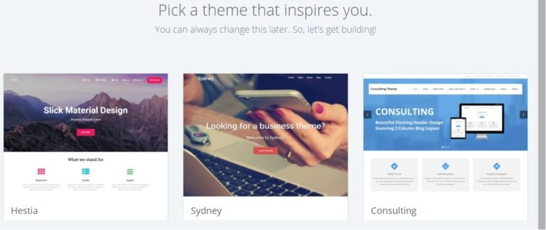 Bluehost WordPress chọn chủ đề