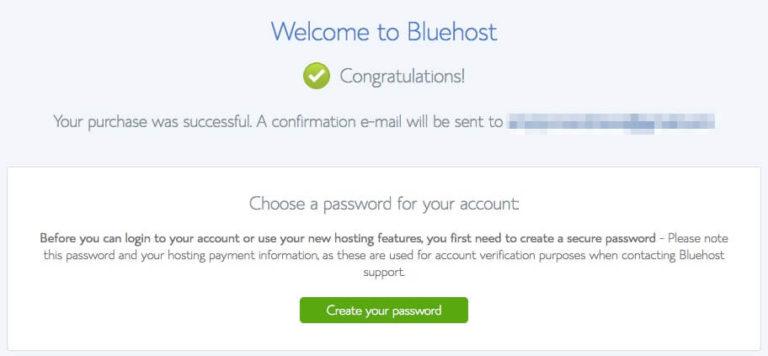 Bluehost mua thành công