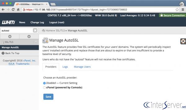 Quản lý AutoSSL