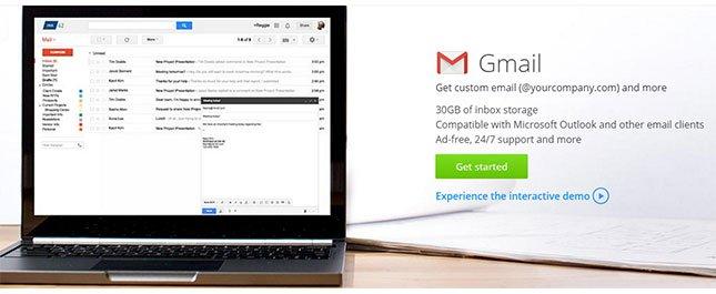 Cách xây dựng một trang web kinh doanh - g Suite gmail