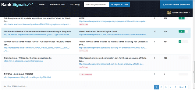 bảng xếp hạng-backlinks-báo cáo
