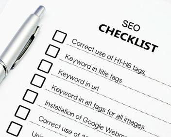danh sách kiểm tra seo
