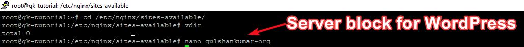 Khối máy chủ NGINX cho WordPress mới