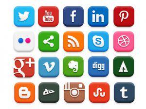 nút phương tiện truyền thông xã hội phù hợp