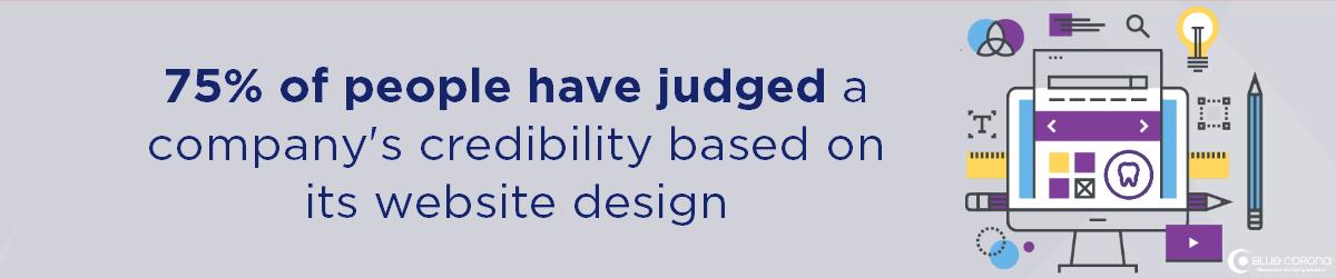 bạn cần công ty thiết kế trang web tốt nhất vì 75% mọi người đánh giá một công ty dựa trên thiết kế trang web