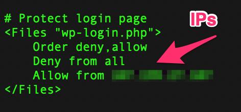 Wordpress Htaccess Giới hạn theo IP