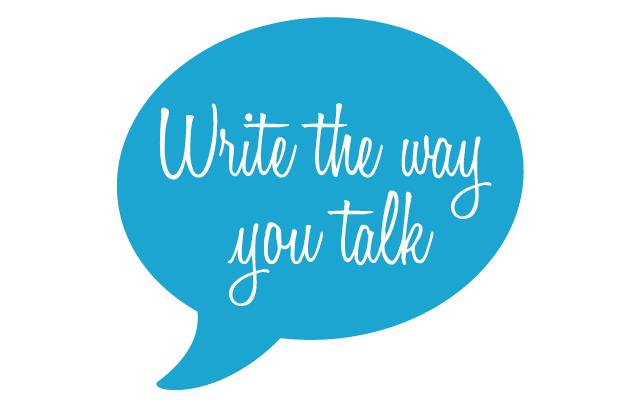 viết như bạn nói