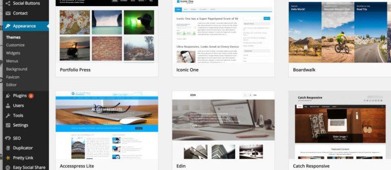 Bảng điều khiển WordPress (phụ trợ)